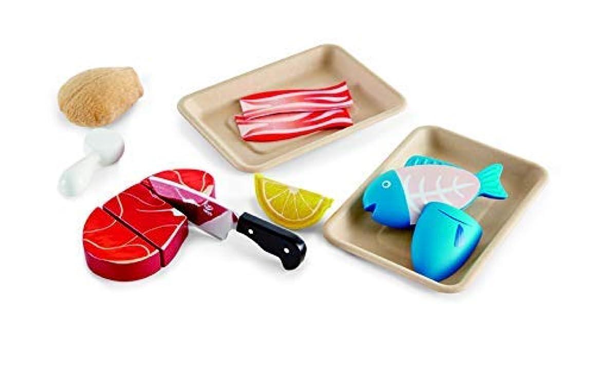 安価な抵抗力があるもっと少なくHape Tasty Proteins Wooden Play Food Set 9 Pieces Multicolor [並行輸入品]