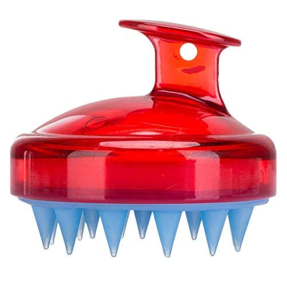 シェトランド諸島金銭的安定Frcolor Hair Scalp Brush Shampoo Massager Silicone Shower Hair Brush [並行輸入品]