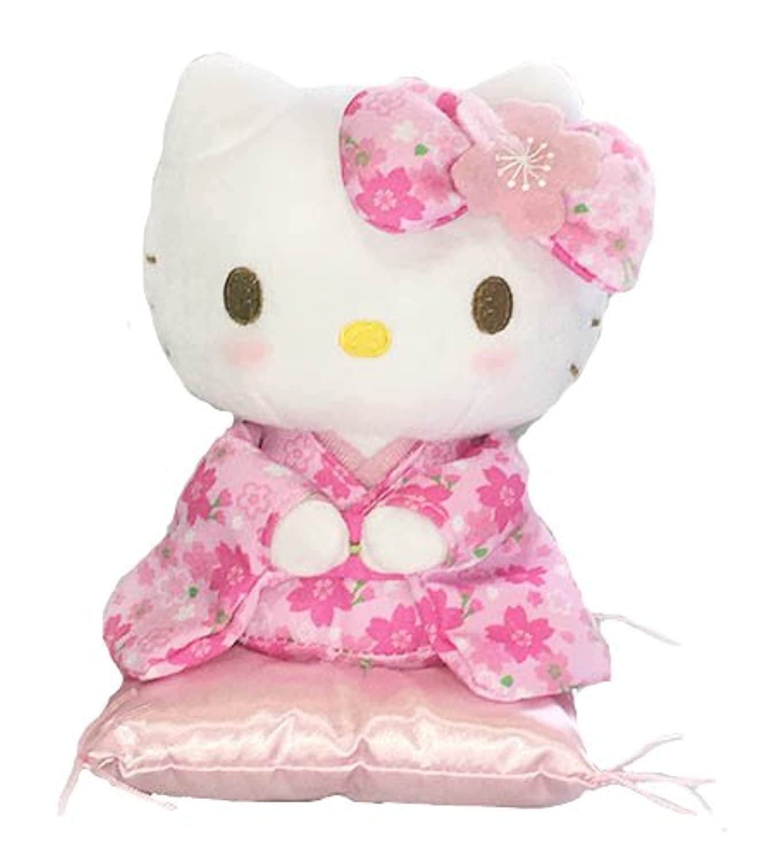 サンリオ ハローキティ 桜着物シリーズ ピンク 座り ぬいぐるみ Sサイズ