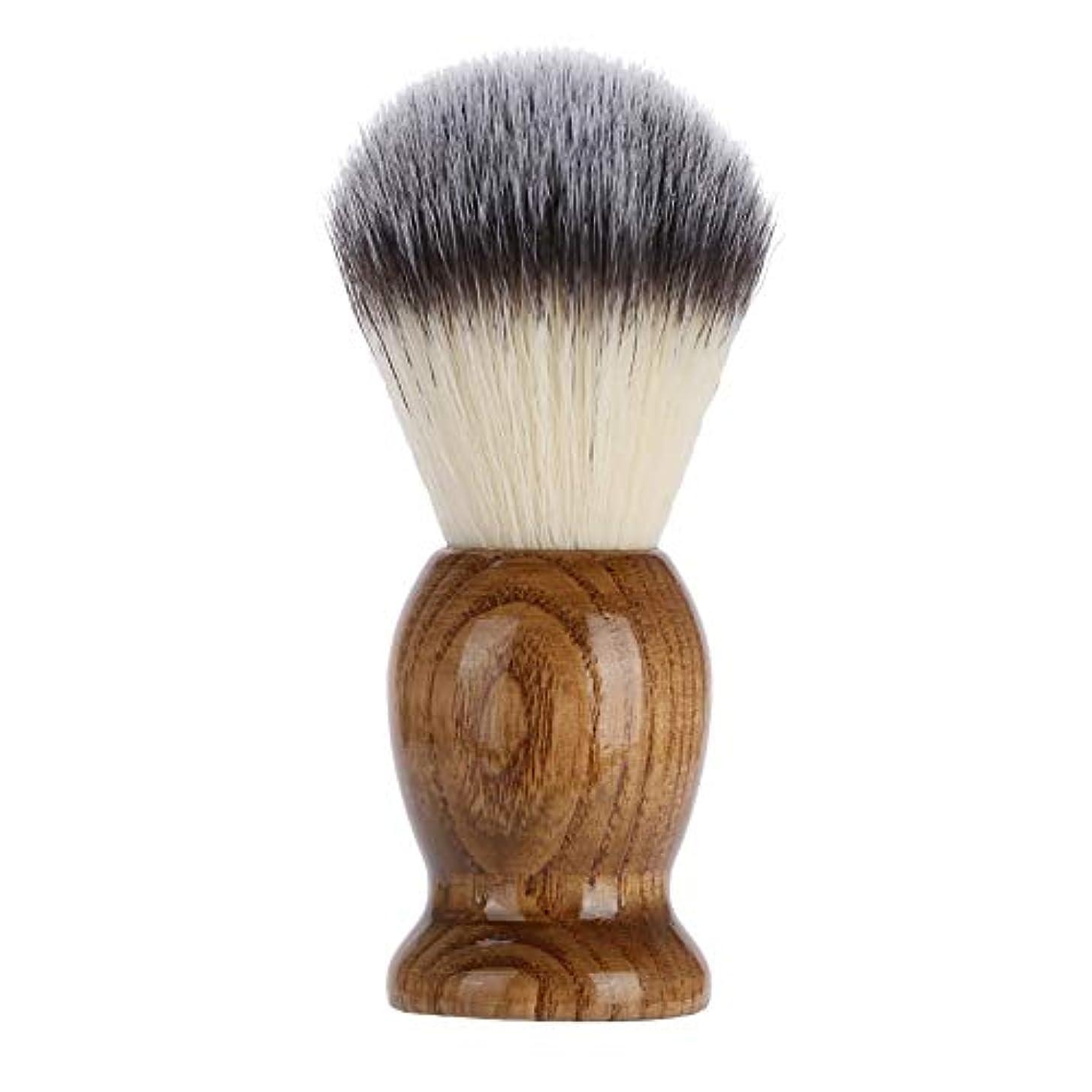 誰の縁はっきりしないZJchao プロフェッショナル 木製シェービングブラシ 2色 あご髭シェービングブラシ 軽量 ポータブルサイズとハンドル付き サロンでの使用や旅行での使用に最適 ZJchao9m1n85gxus-02