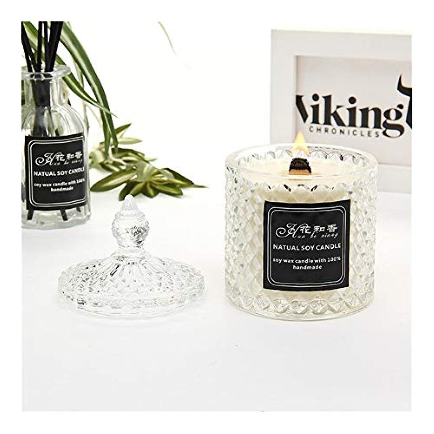 黙認する飢自発ACAO クリスタルガラスボトルの香りキャンドル (色 : Night scent)