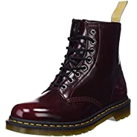 DR MARTENS Women's 1460 Vegan Cambridge Brush Lace Up Boot Cherry Red-Cherry-3