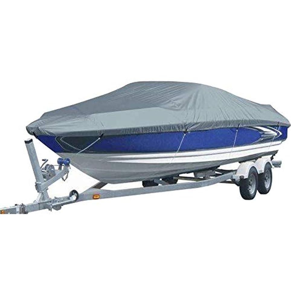 不当煙欺Xiuhua ダストカバー - 頑丈な防水マリンカバー、耐久性、引き裂き抵抗性、Vハル用Strapandストラップ、ボートカバー - グレー 家庭用ダストカバー (Size : 14-16ft/530 x 290CM)