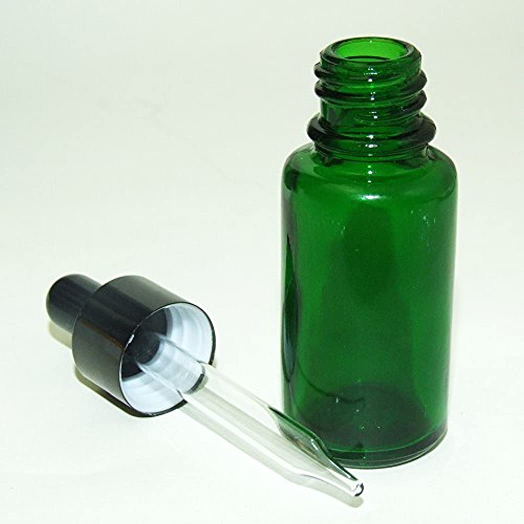 後ろに人工的なブラウズガレージ?ゼロ 遮光ガラス スポイド瓶 先細タイプ 緑 15ml(GZKP32)×10個 アロマ保存 GSE678