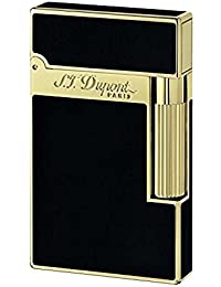 S.T.Dupont LIGNE2 SERIES 16884 デュポン ガスライターライン2 モンパルナス クラシカル NEWロゴ ブラック純正漆 ゴールド フィニッシュ 対応ガス/ゴールドラベル [並行輸入品]