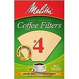 MELITTA INC Melitta 624412#4 Natural Brown Cone Coffee Filters 40 Count, CT