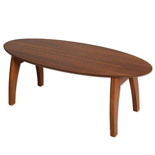 タンスのゲン オーバルテーブル 折りたたみ ローテーブル