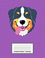 """Composition Notebook - Graph Paper: Purple Bernese Mountain Dog 