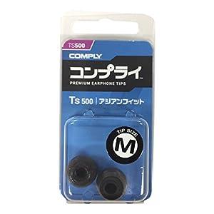 Comply(コンプライ) Ts-500 アジアンフィット プレミアムメモリーフォーム イヤホンチップス Anker Soundbuds, KZ ZST, SoundPEATS Q30, Symphonized NRG 3.0 & More イヤホンをカンタンにアップグレード 機能強化:高音質 遮音性 フィット感 脱落防止イヤーピース Mサイズ, 1ペア