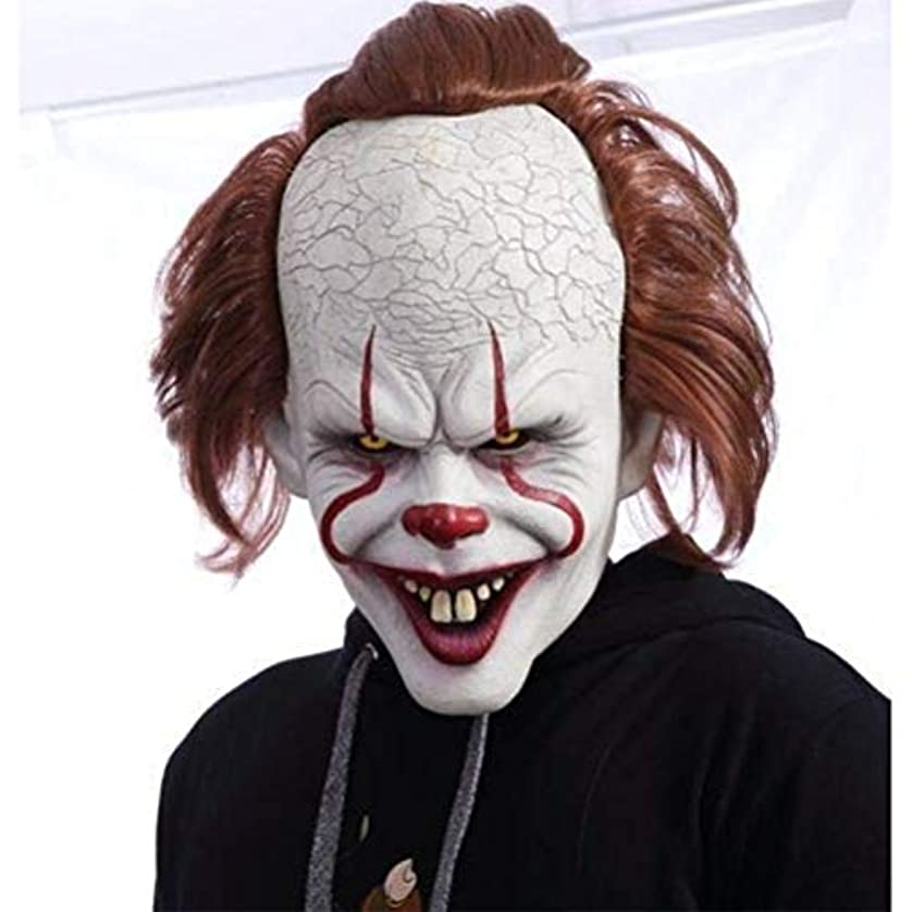 複製する通り否認するBSTOPSEL ピエロラテックスマスク怖いジョーカーマスクハロウィンホラーマスクコスプレ衣装の小道具