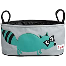 3 Sprouts Stroller Organiser - Raccoon, Teal, 1 Count