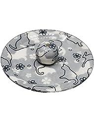 9-48 ねこランド(グレー) 9cm香皿 日本製 お香立て 陶器 猫柄