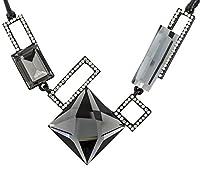 Jewelbox 幾何学模様 ファセットクリスタル キュービックジルコニア アメリカンダイヤモンド 上品ネックレス 女性&女の子用