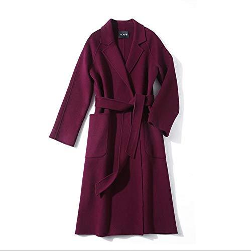 女性用ウールコート 秋と冬のレディース両面ウールコート、ウー...