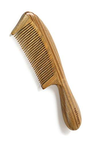 raffinare(ラフィナーレ) 木製 櫛 コーム ヘアブラシ 高級 天然 緑檀木 静電気 防止 木の香り くし 美髪