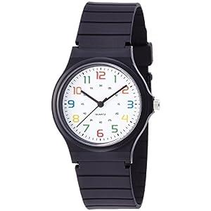 [フィールドワーク]Fieldwork 腕時計 ハーヴィー アナログ表示 ウレタンベルト ホワイト×マルチカラー DT108-7 メンズ