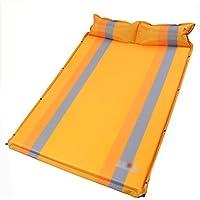 sheng ダブル膨張クッション屋外テント寝ているマットの水分パッドは、厚いダブルクッションを広げる ( 色 : イエロー いえろ゜ )