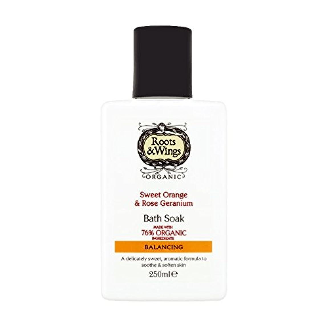 帝国主義機構量Roots & Wings Bath Soak Sweet Orange & Rose Geranium 250ml (Pack of 2) - ルーツ&翼バス甘いオレンジを浸し&ゼラニウム250ミリリットルをバラ (x2...
