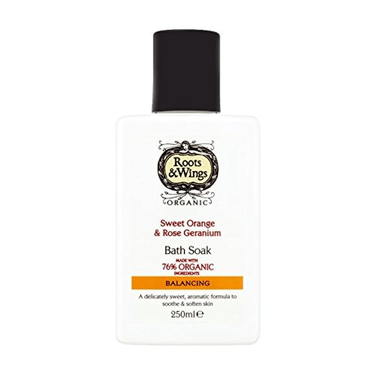 マークされた集計パキスタンRoots & Wings Bath Soak Sweet Orange & Rose Geranium 250ml (Pack of 6) - ルーツ&翼バス甘いオレンジを浸し&ゼラニウム250ミリリットルをバラ (x6) [並行輸入品]