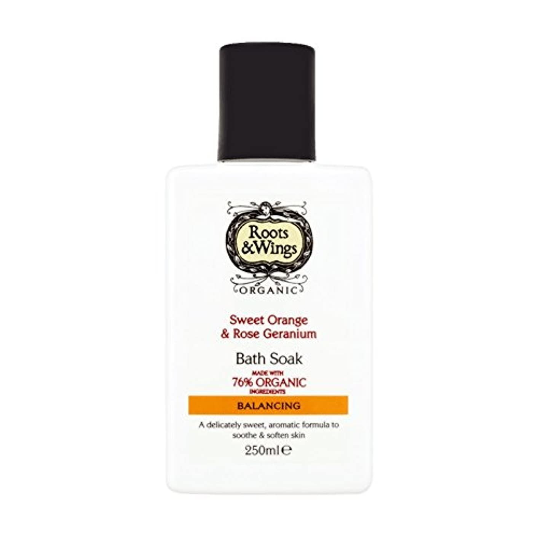 部門オーナメント輪郭Roots & Wings Bath Soak Sweet Orange & Rose Geranium 250ml (Pack of 2) - ルーツ&翼バス甘いオレンジを浸し&ゼラニウム250ミリリットルをバラ (x2) [並行輸入品]