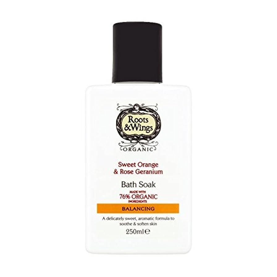 リーチ韓国答えRoots & Wings Bath Soak Sweet Orange & Rose Geranium 250ml (Pack of 2) - ルーツ&翼バス甘いオレンジを浸し&ゼラニウム250ミリリットルをバラ (x2...