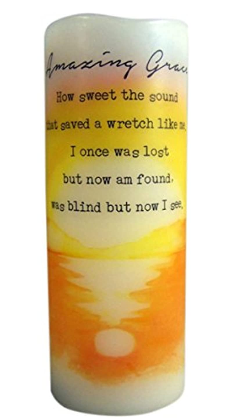 履歴書デッド動物Amazing Grace Flamless Flicker Vanilla Scented Wax Candle with LED Light, 20cm