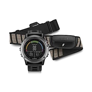 GARMIN(ガーミン) Fenix 3 (フェニックス 3) ランニング 登山 心拍センサー付き GPS搭載 日本未発売 グレー(ブラックバンド) ハートレートモニター有り [並行輸入品]