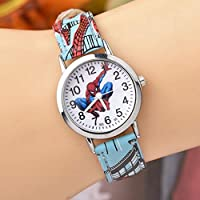 Student Children Round Dial Watch Kids Watches Boys Girls Clock Child Quartz Wristwatch Navy Blue