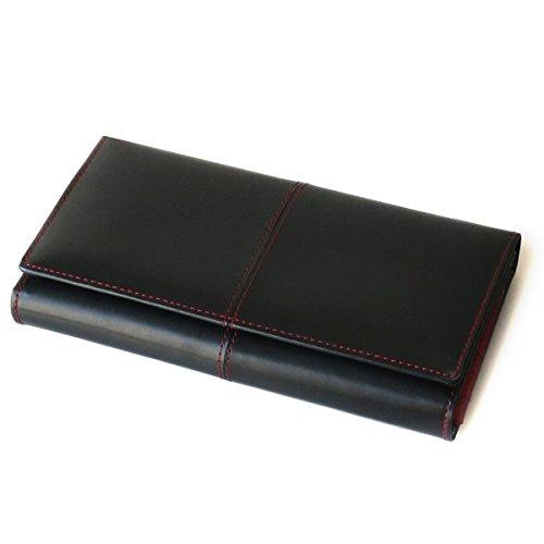 [ディアブロ] DIABLO 大容量29ポケット 馬革×牛革 三つ折長財布 【KA-917】(レッド)