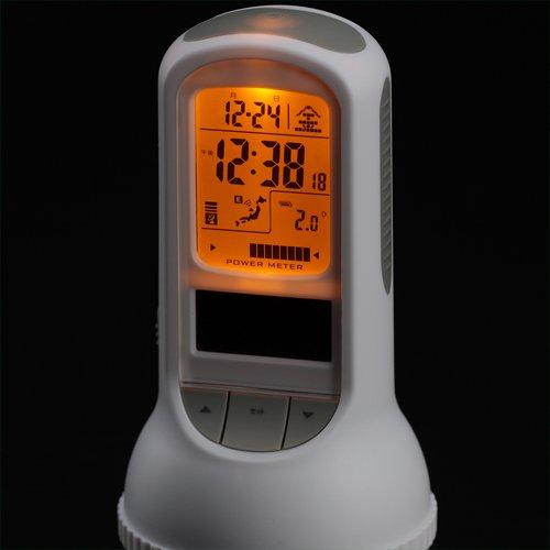 LANDEX(ランデックス) シェイクマスター ソーラー電波デジタル置き時計 懐中電灯・振動感知機能付き ホワイト YT-5198WH