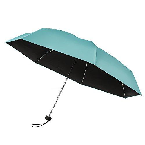 PLEMO 傘 ミニ折り畳み傘 軽量日傘 折りたたみ傘 晴雨兼用 UVカット 遮熱遮光 持ち運び携帯用傘 ブルー