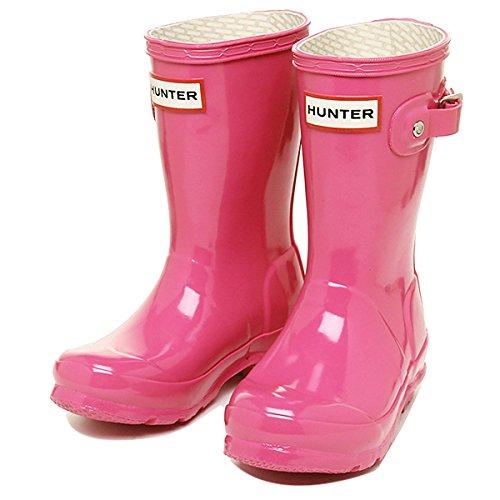ハンター ブーツ キッズ HUNTER W23991 FUS ORIGINAL KIDS GLOSS レインブーツ/長靴 FUCHSIA[並行輸入品]