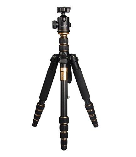 Lankdeals 三脚 プロ 一眼レフ カメラ 三脚 一脚 可変式 自由雲台付き 軽量コンパクト 5段 カーボン三脚