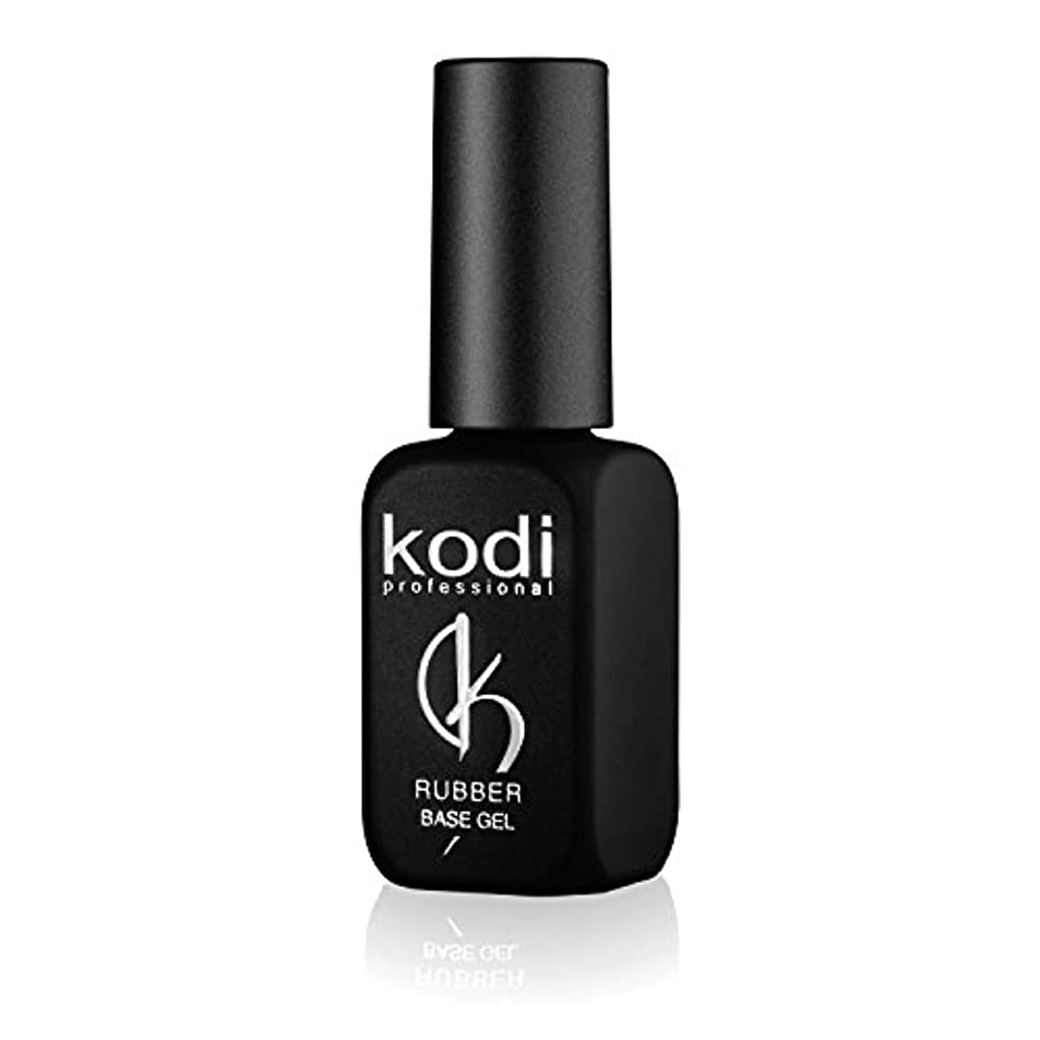 革命ニッケルフレアProfessional Rubber Base Gel By Kodi | 12ml 0.42 oz | Soak Off, Polish Fingernails Coat Gel | For Long Lasting...