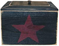 Primitive Recipe Box with Star by Colonial Tin Works
