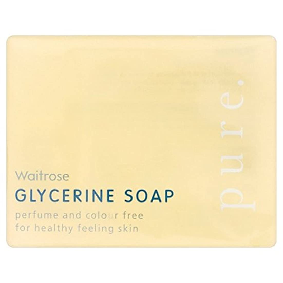 ガウン最後のでPure Glycerine Soap Waitrose 100g (Pack of 6) - 純粋なグリセリンソープウェイトローズの100グラム x6 [並行輸入品]