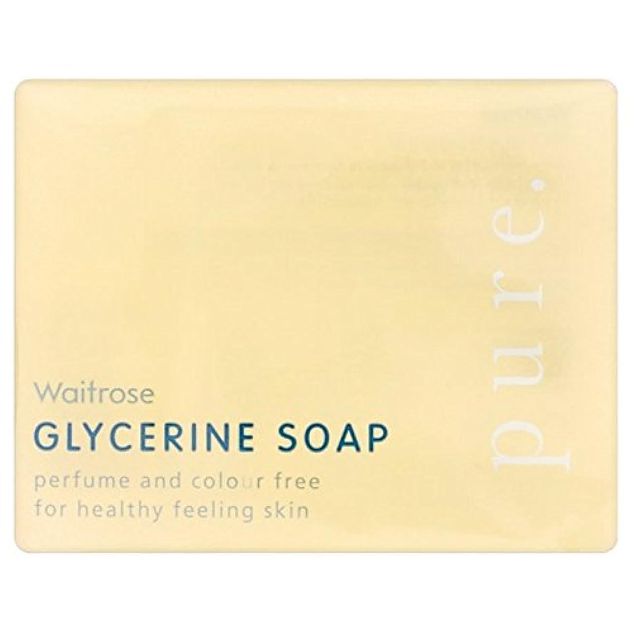 直径登録祝福する純粋なグリセリンソープウェイトローズの100グラム x4 - Pure Glycerine Soap Waitrose 100g (Pack of 4) [並行輸入品]
