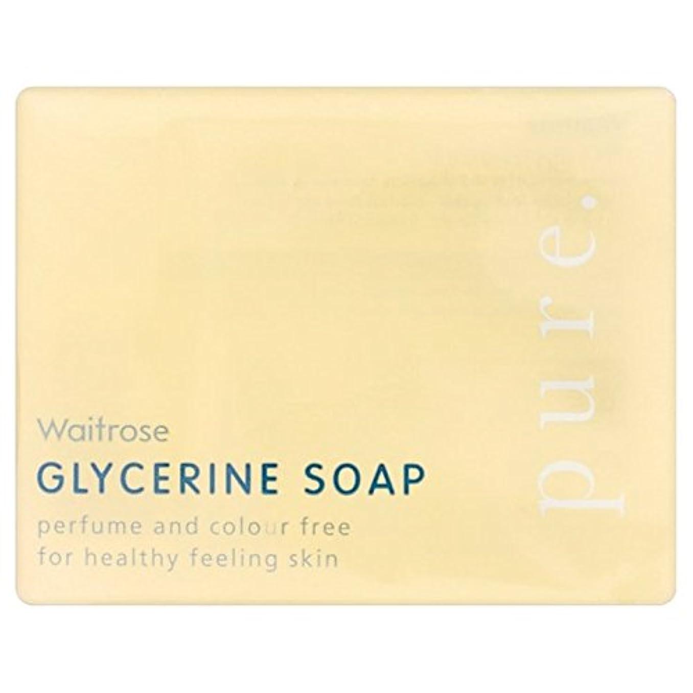 迅速有料基準純粋なグリセリンソープウェイトローズの100グラム x4 - Pure Glycerine Soap Waitrose 100g (Pack of 4) [並行輸入品]