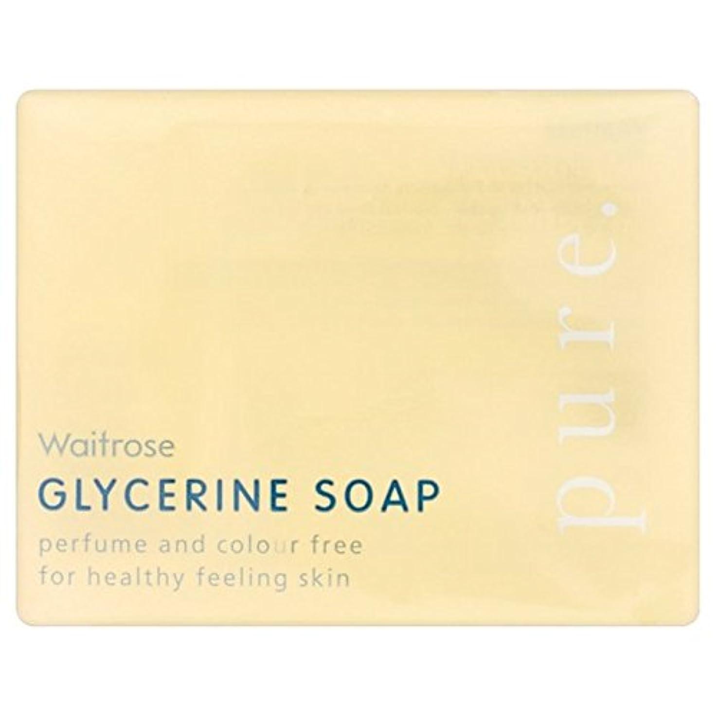 強制免除する効能ある純粋なグリセリンソープウェイトローズの100グラム x4 - Pure Glycerine Soap Waitrose 100g (Pack of 4) [並行輸入品]