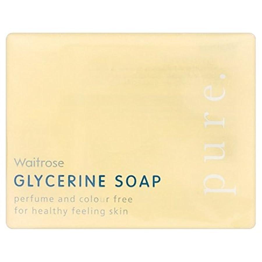 追放場合ファブリック純粋なグリセリンソープウェイトローズの100グラム x2 - Pure Glycerine Soap Waitrose 100g (Pack of 2) [並行輸入品]