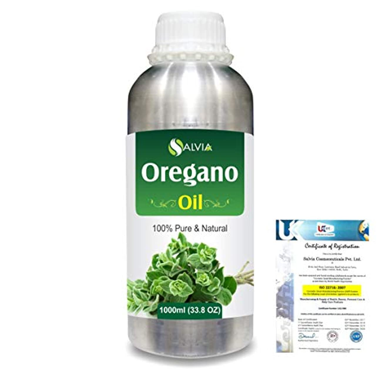不誠実変装裏切り者Oregano (Origanum vulgare) 100% Natural Pure Essential Oil 1000ml/33.8fl.oz.