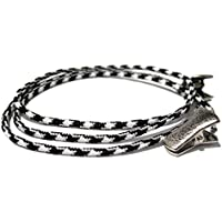 ATLanyards Black and White Paracord Non Slip Clip Eyeglass Holder, SELECT YOUR SIZE, Glasses Lanyard, 321