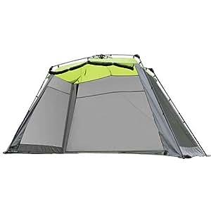 クイックキャンプ ワンタッチ スクリーンタープ ワイド 4m×2.8m 大型 アウトドア ワンタッチタープ タープテント QC-SS400