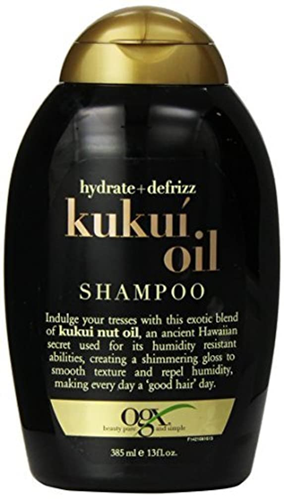 ノイズ時間銀行OGX Kukui Oil Shampoo, Hydrate Plus Defrizz, 13 Ounce [並行輸入品]