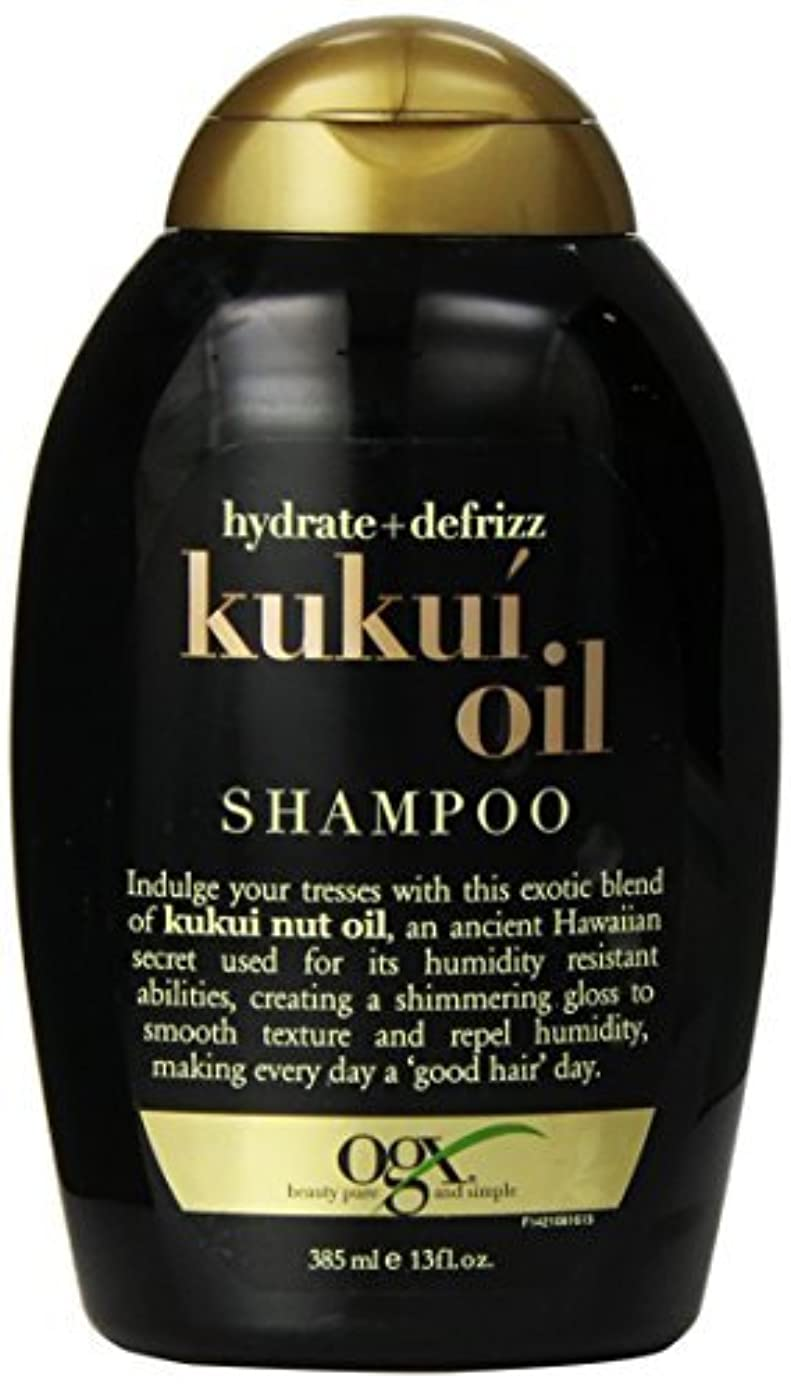 苛性はっきりしない厳OGX Kukui Oil Shampoo, Hydrate Plus Defrizz, 13 Ounce [並行輸入品]