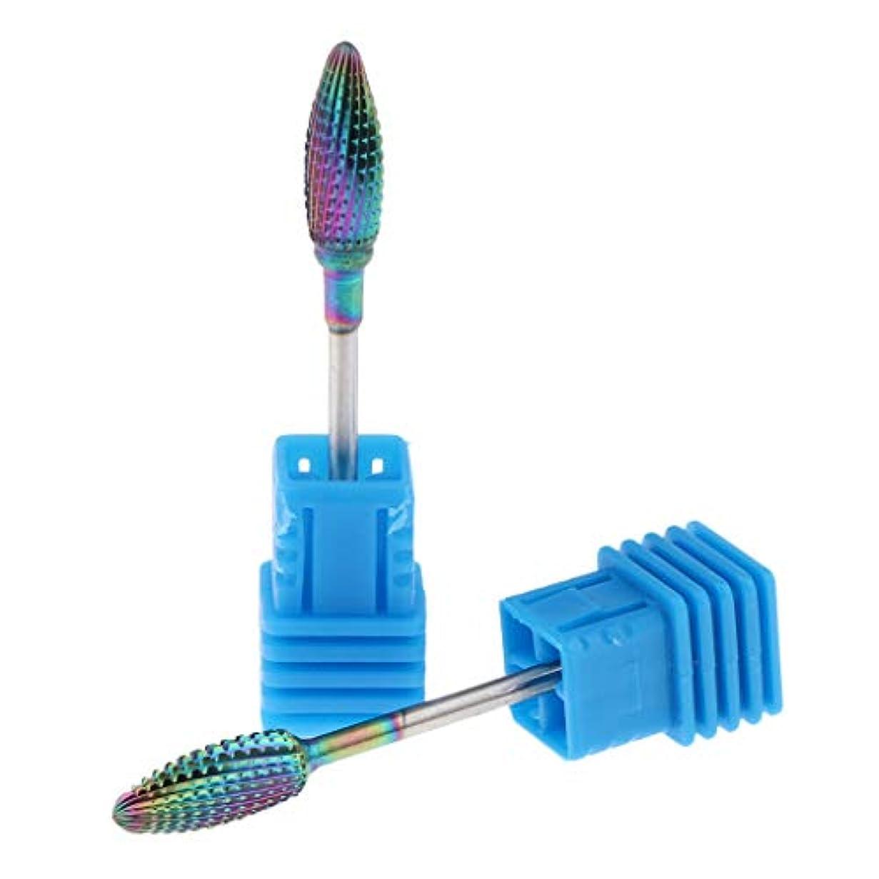 T TOOYFUL 全4サイズ ネイル研磨ヘッド ネイルドリルビット ネイルアートツール タングステン製 爪磨き 研削2本 - 04