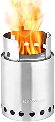 Solo Stove Titan - 2-4 Person Lightweight Wood Burning Stove. Compact Camp Stove Kit for Backpacking, Camping, Survival. Bur