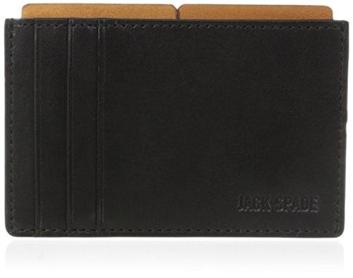 [ジャック・スペード] JACK SPADE カードケース MITCHELL LEATHER FILE WALLET W6RU0121 011 (BLACK/SADDLE)