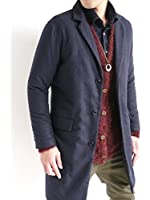 (オークランド) Oakland ウール ヘリンボーン チェスターコート 中綿入り コート 起毛 ロングコート メンズ