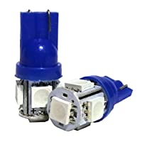 スズキ ワゴンR MH22 t10 led ポジションランプ ナンバー灯 3CHIP SMD 5灯 LEDバルブ led5連 拡散 ブルー 2個セット